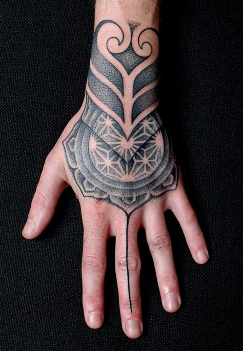 geometric hand tattoo 41 best images about hand tattoos on pinterest