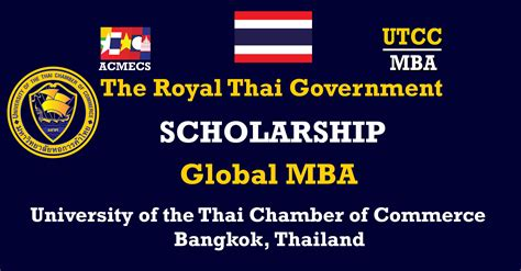 Mba Degree Scholarship by Thai Government S Scholarship Mba Program At The
