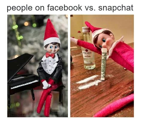 Elf On The Shelf Meme - facebook snapchat elf on a shelf stuff