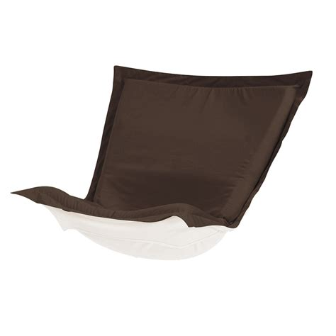 puff chair cover with cushion sunbrella seascape chocolate