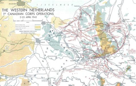 map netherlands during ww2 the western netherlands 1st canadian corps operations 2