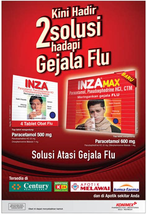 Inza Obat Flu inza konimex pharmaceutical laboratories
