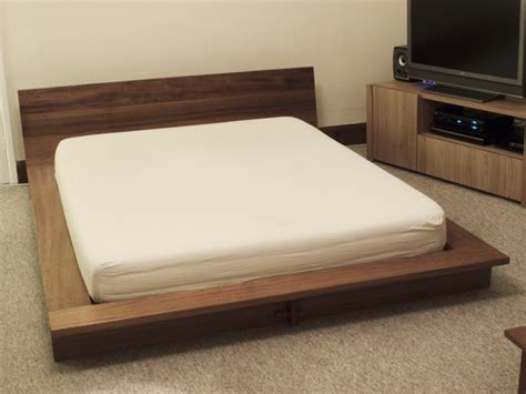 Handmade Platform Beds - iroko platform bed bespoke handmade bedroom furniture