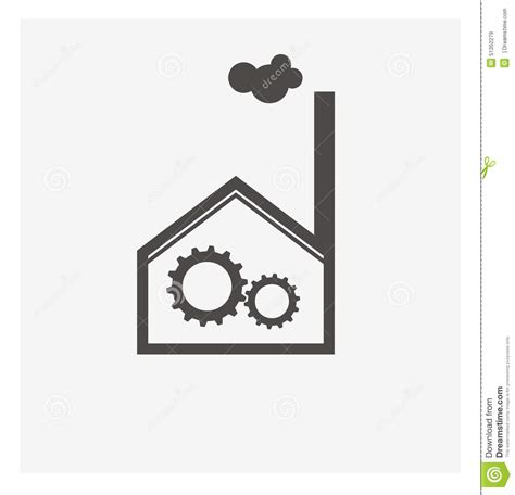 manufacturing symbols factory and manufacturing illustration stock vector