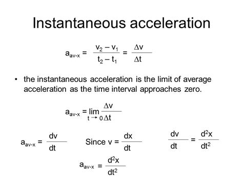 section 11 3 acceleration answers instantaneous acceleration equation jennarocca