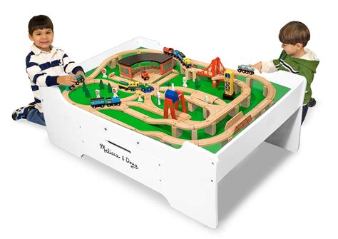 and doug play table doug deluxe wooden multi activity play table