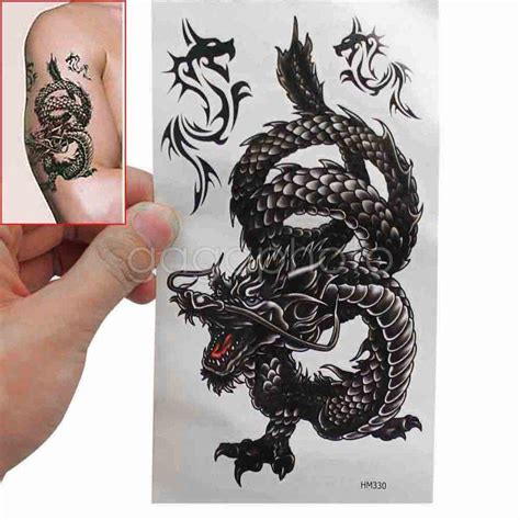 does tattoo camo rub off on clothes waterproof temporary dragon pattern fake tattoos body