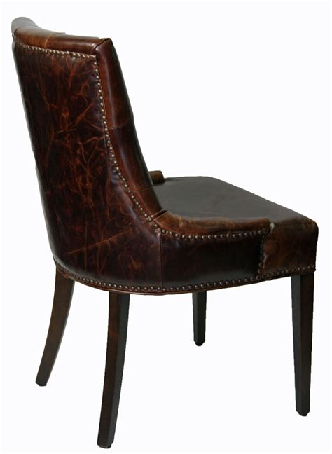 top sellers antique coco top grain leather dining chair