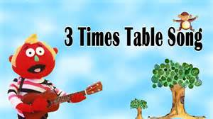 3 times table song