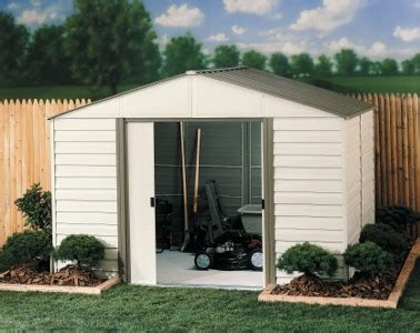 arrow milford vm108 vm1012 vinyl coated steel storage shed