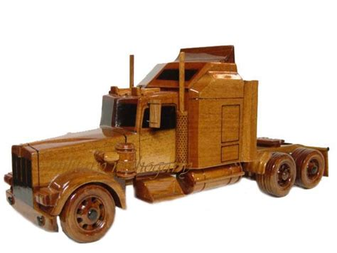 wooden kenworth kenworth semi tractor trailer wooden display wood model ebay