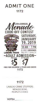 menudo bowl ticket  laredo texas cook