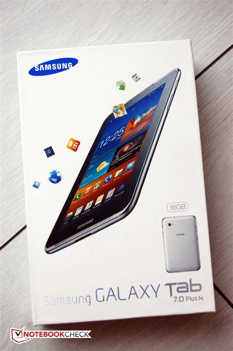 review samsung galaxy tab 7 0 plus n tablet mid notebookcheck net reviews