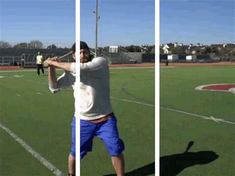 baseball bat swing trick baseball bat trick as requested splitdepthgifs