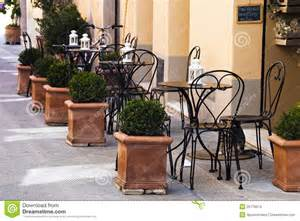 Outdoor Wooden Chair Plans Free by Italian Outdoor Cafe Stock Images Image 25776674
