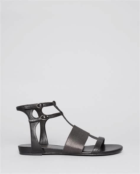 Studio Nine Flat Sandal Shoes enzo angiolini open toe flat sandals nyri in black lyst