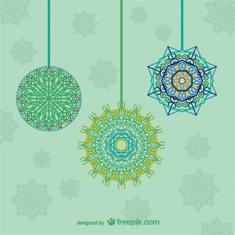 artistic hanging ornaments for christmas vector free