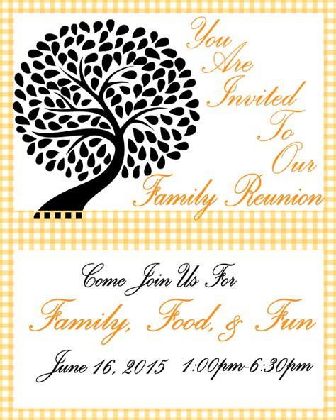 printable family reunion invitation cards family reunion invitation free printable let s get