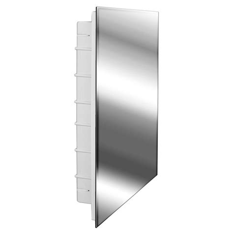 frameless mirrored medicine cabinet recessed zaca spacecab media 16 in x 26 in x 3 1 2 in frameless