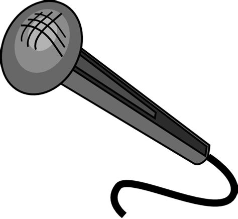 microphone clipart microphone clip at clker vector clip