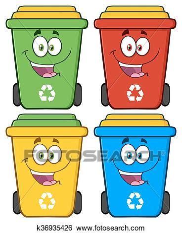 clipart rifiuti clip felice contenitore raccolta differenziata