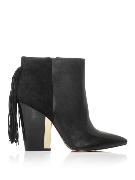 sam edelman mariel leather and suede boots in black lyst