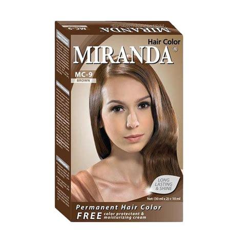 Miranda Hair Color 30ml Kecil jual miranda hair color mc 9 brown 30 ml