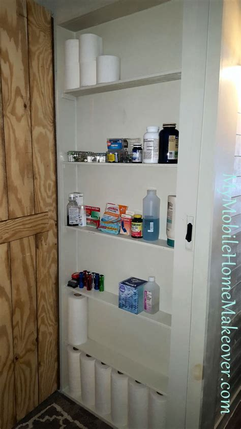 don t waste space make a closet mobile home makeover