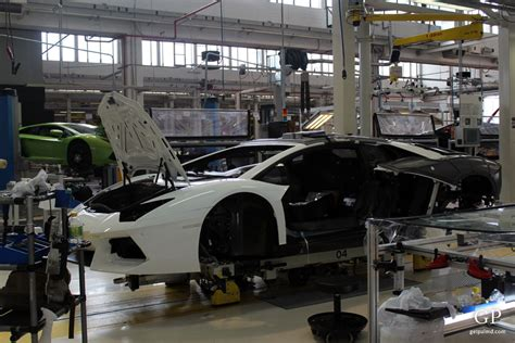 Lamborghini Factory Visit Inside The Lamborghini Factory Of Aventador