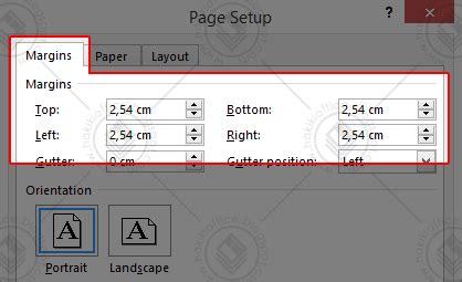 membuat margin makalah cara mengatur margin dan ukuran kertas pada ms word