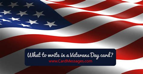 write   veterans day card card messages