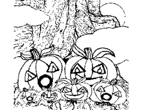 pumpkin tree coloring page pumpkins on tree coloring page
