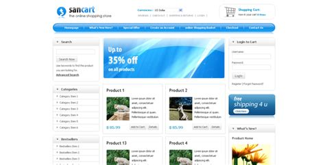 Sancart Html Shopping Cart Template By Settysantu Themeforest One Page Shopping Cart Template