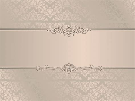 elegant wedding invitation ppt backgrounds beige border