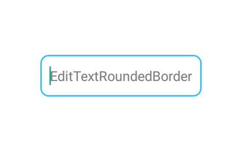 xml layout border add rounded corners border to edittext android using xml