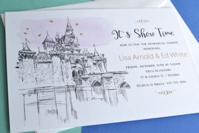 sending wedding invitations to disneyland disneyland rehearsal dinner invitations