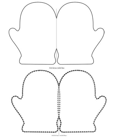 Mitten Template Printable