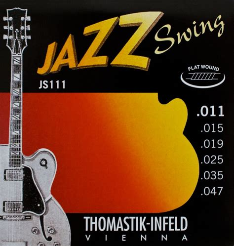 jazz swing thomastik flatwound jazz guitar strings jazz swing 11 47