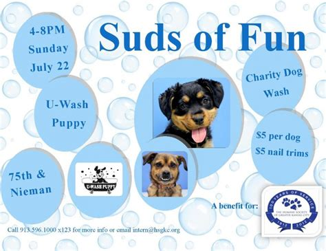 u wash puppy suds of featuring u wash puppy and benefiting the humane society of greater