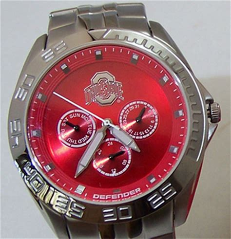 ohio state buckeyes fossil mens multifunction
