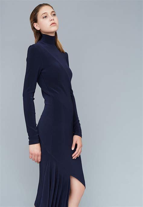 Simple Asimetris Knitt Dress le 003 knit asymmetric dress