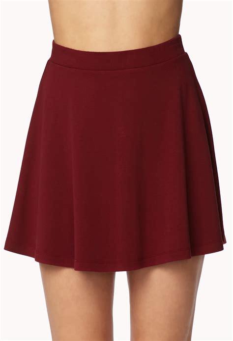 Roberta Roller Rabbit by Forever 21 Knit Skater Skirt In Red Lyst