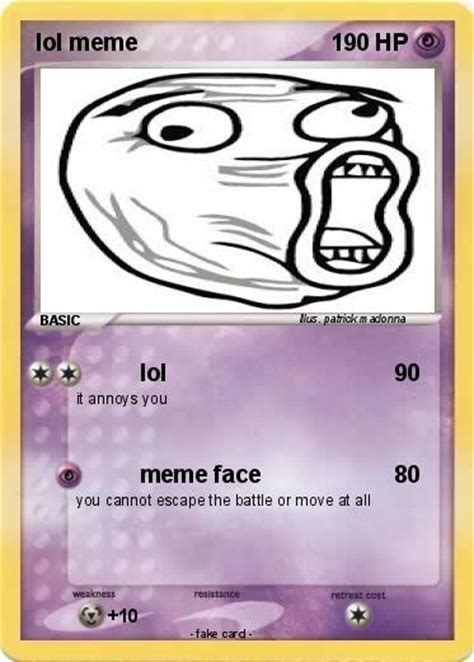 Meme Pokemon Cards - pok 233 mon lol meme lol my pokemon card