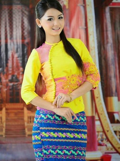 latest myanmar fashion dress  fashionte