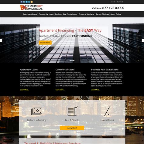 Commercial Mortgage Website Templates Lending Website Template