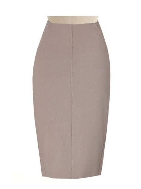 beige pencil skirt fully lined custom made linen