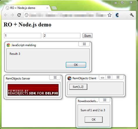 simple node js websocket server andr 233 s dev blog remobjects via websockets and in node js