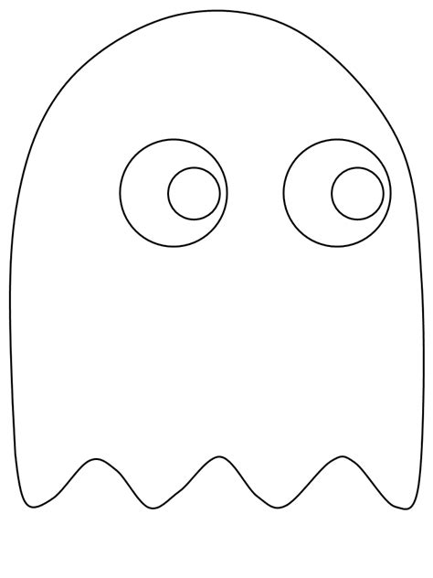 blank ghost coloring pages free pacman for kids coloring home