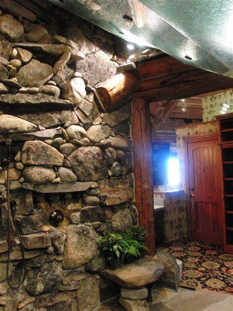 Waterfall shower tropical bathroom tampa by inside eye design