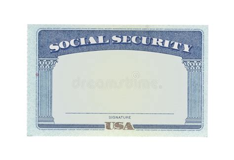 free printable social security card template blank social security card stock photo image of money